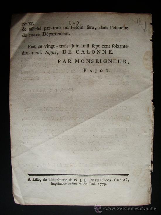 Libros antiguos: 1779-ORDEN DE LA SAL. ESPAÑA, PORTUGAL Y FRANCIA.CARLOS IV. RARO Y CURIOSO DOCUMENTO - Foto 3 - 29389838