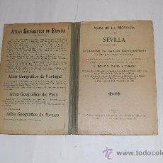 Libros antiguos: MAPA DE LA PROVINCIA DE SEVILLA.BENITO CHIAS Y CARBÓ RM55254. Lote 29407388