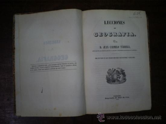 Libros antiguos: Lecciones de Geografía Obra de texto en los Colegio Militares Infantería y Caballería 1861 RM54986-V - Foto 3 - 29547491