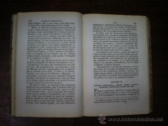 Libros antiguos: Lecciones de Geografía Obra de texto en los Colegio Militares Infantería y Caballería 1861 RM54986-V - Foto 6 - 29547491