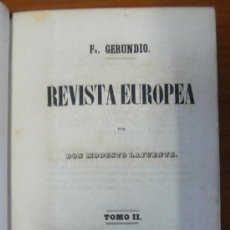 Libros antiguos: REVISTA EUROPEA. TOMO II. LAFUENTE, MODESTO. 1848.. Lote 29846996