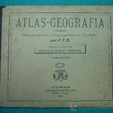 Libros antiguos: ATLAS GEOGRAFIA 3ª ED 1º GRADO LIBRERIA CATOLICA 1904. Lote 30235291
