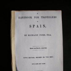 Libros antiguos: 1878-MADRID.GUÍA VIAJES ESPAÑA. MURRAY'S.ORIGINAL. Lote 30540184