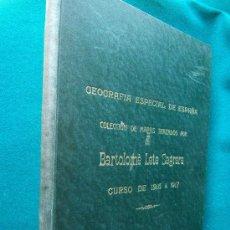 Libros antiguos: GEOGRAFIA ESPECIAL DE ESPAÑA - 26 MAPAS MANUSCRITOS 39X30 CM - BARTOLOME LETE SAGRERA- 1916 ?- UNICO. Lote 30905691