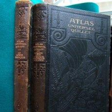 Libros antiguos: ATLAS UNIVERSEL QUILLET. PHYSIQUE. POLITIQUE... - 2 TOMOS COMPLETO 99 MAPAS EN COLOR 44X24 CM - 1929. Lote 30985905