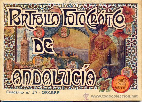 PORTFOLIO FOTOGRAFICO DE ANDALUCIA Nº 27 ORCERA (Libros Antiguos, Raros y Curiosos - Geografía y Viajes)