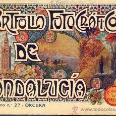 Libros antiguos: PORTFOLIO FOTOGRAFICO DE ANDALUCIA Nº 27 ORCERA. Lote 30995029