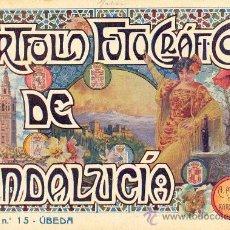 Libros antiguos: PORTFOLIO FOTOGRAFICO DE ANDALUCIA Nº 15 UBEDA. Lote 30995133