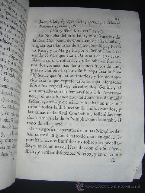 Libros antiguos: 1759 - RELACION OBSEQUIOSA... DEL VIAJE DE CARLOS III Y SU FAMILIA A BARCELONA EN 1759 - Foto 5 - 31614331