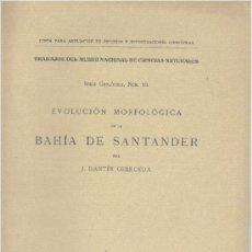 Libros antiguos: EVOLUCIÓN MORFOLÓGICA DE LA BAHÍA DE SANTANDER (DANTÍN CERCEDA 1917)SIN USAR. Lote 31622283