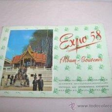 Libros antiguos: ALBUM-SOUVENIR EXPO 58 BRUSELAS. Lote 31702825