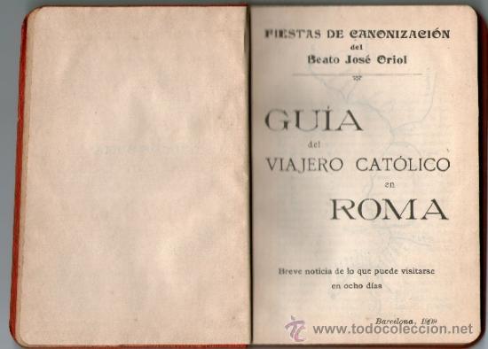Libros antiguos: Guia del viajero católico en Roma, 1909. - Foto 2 - 31857207