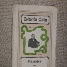 Livros antigos: PAISAJES, POR MIGUEL DE UNAMUNO. 1902. PRIMERA EDICIÓN DE 1000 EJEMPLARES. RARO. Lote 31928739