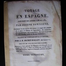 Libros antiguos: 1786-87-MÁLAGA.VIAJE EN ESPAÑA. POR JOSEPH TOWNSEND. EDICIÓN ORIGINAL DE 1809.. Lote 32284060