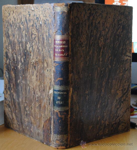 1874.- AVILA. DESCRIPCION FISICA, GEOLOGICA Y MINERA DE LA PROVINCIA. (Libros Antiguos, Raros y Curiosos - Geografía y Viajes)