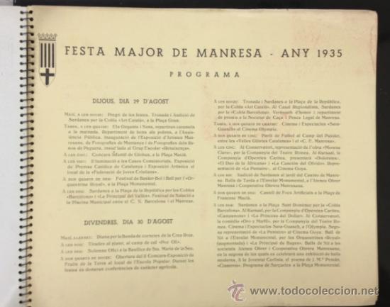 Libros antiguos: MANRESA 1935. CON FOTOGRAFÍAS, PUBLICIDAD, ... 56 PÁG. (VER FOTOS ADICIONALES) - Foto 12 - 33549576