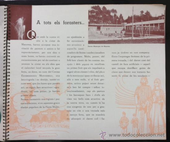 Libros antiguos: MANRESA 1935. CON FOTOGRAFÍAS, PUBLICIDAD, ... 56 PÁG. (VER FOTOS ADICIONALES) - Foto 8 - 33549576