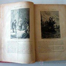 Libros antiguos: PRIMERA EDICIÓN DE GRANDS VOYAGES ET GRANDS VOYAGEURS DE JULIO VERNE. 1878.. Lote 33565353