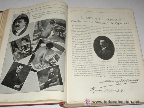 Libros antiguos: Asturias, Guía monumental, histórica, artística, industrial, comercial y de profesiones. 1923 Asturi - Foto 6 - 34291438