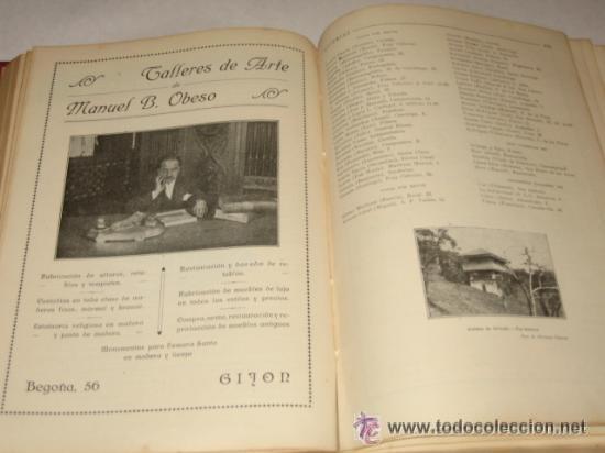 Libros antiguos: Asturias, Guía monumental, histórica, artística, industrial, comercial y de profesiones. 1923 Asturi - Foto 7 - 34291438