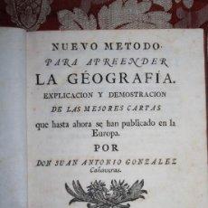 Libros antiguos: 5933- NUEVO METODO PARA APRENDER LA GÉOGRAFÍA . J. A. GONZALEZ - MADRID - 1765. Lote 35118443
