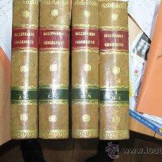 Libros antiguos: NOVISIMO DICCIONARIO GEOGRAFICO, HISTORICO, PINTORESCO UNIVERSAL -AÑO 1863 - 4 TOMOS . Lote 35399059