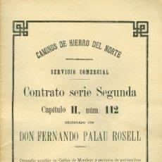 Libros antiguos: FERROCARRIL - CALDES DE MONTBUI - 1936 - CAMINOS DE HIERRO . Lote 35470759