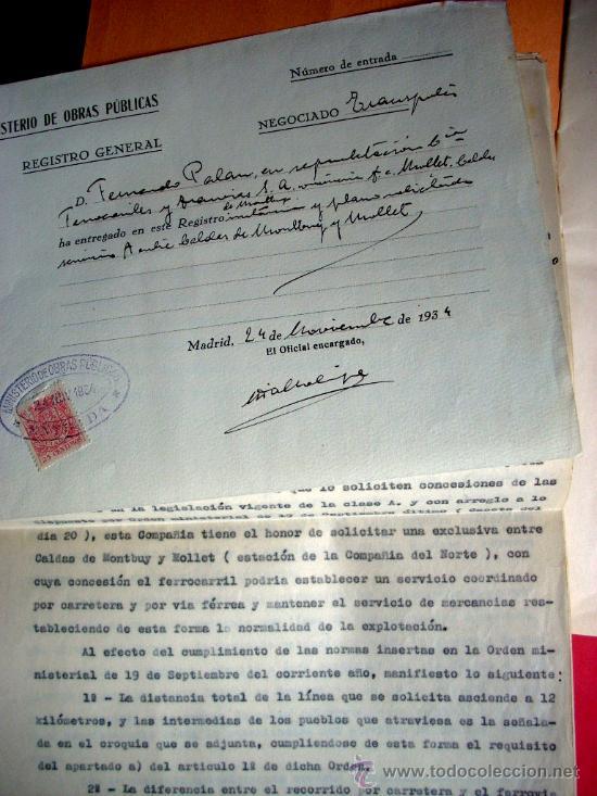 Libros antiguos: FERROCARRIL - MOLLET - CALDES DE MONTBUI -1931 - MEMORIA Y DOCUMENTOS - Foto 3 - 35476207