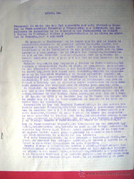 Libros antiguos: FERROCARRIL - MOLLET - CALDES DE MONTBUI -1931 - MEMORIA Y DOCUMENTOS - Foto 4 - 35476207