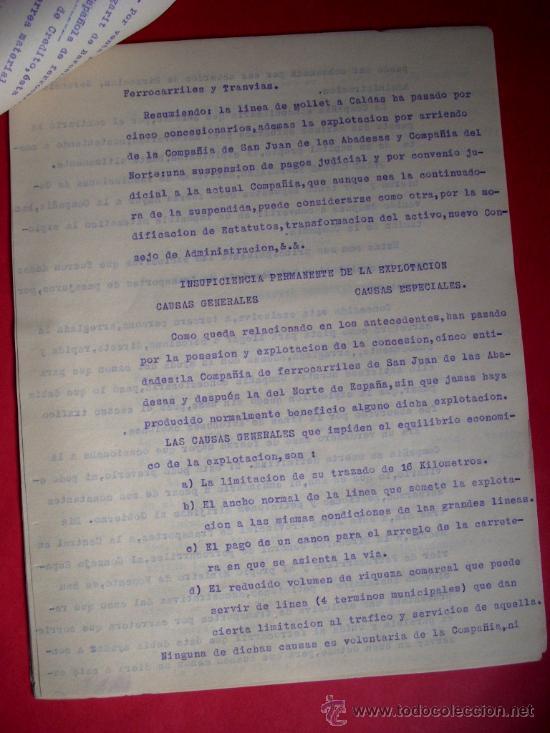 Libros antiguos: FERROCARRIL - MOLLET - CALDES DE MONTBUI -1931 - MEMORIA Y DOCUMENTOS - Foto 5 - 35476207