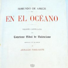 Libros antiguos: EN EL OCEANO, EDMUNDO DE AMICIS, ESPASA 1892. Lote 35770328