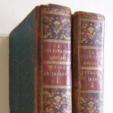Libros antiguos: 1801 VOYAGES EN IRLANDE 2 VOLUMENES ARTHUR YOUNG AGRICULTURA Y ECONOMIA. Lote 36957498
