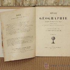 Libros antiguos: 3120-ATLAS DE GEOGRAPHIE. GROSSELIN DELAMARCHE. EDIT. EMILE BERTAUX. 1892. Lote 37121347