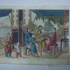 Libros antiguos: EXCELENTE GRAVADO DE VIAJE DE EPOCA ROMANTICA, ILUMINADO A MANO. APROX. 1820.. Lote 37844302