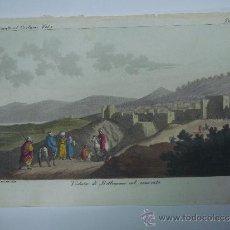 Libros antiguos: EXCELENTE GRAVADO DE VIAJE DE EPOCA ROMANTICA, ILUMINADO A MANO. APROX. 1820.. Lote 37844397