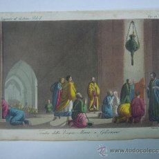 Libros antiguos: EXCELENTE GRAVADO DE VIAJE DE EPOCA ROMANTICA, ILUMINADO A MANO. APROX. 1820.. Lote 43124431