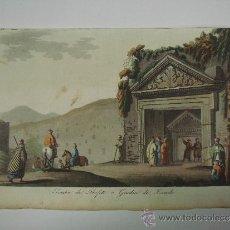Libros antiguos: EXCELENTE GRAVADO DE VIAJE DE EPOCA ROMANTICA, ILUMINADO A MANO. APROX. 1820.. Lote 37844521