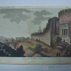 Libros antiguos: EXCELENTE GRAVADO DE VIAJE DE EPOCA ROMANTICA, ILUMINADO A MANO. APROX. 1820.. Lote 37844574