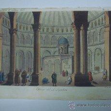 Libros antiguos: EXCELENTE GRAVADO DE VIAJE DE EPOCA ROMANTICA, ILUMINADO A MANO. APROX. 1820.. Lote 37844590
