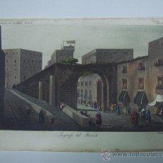 Libros antiguos: EXCELENTE GRAVADO DE VIAJE DE EPOCA ROMANTICA, ILUMINADO A MANO. APROX. 1820.. Lote 37844609