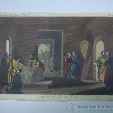 Libros antiguos: EXCELENTE GRAVADO DE VIAJE DE EPOCA ROMANTICA, ILUMINADO A MANO. APROX. 1820.. Lote 37844643
