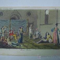 Libros antiguos: EXCELENTE GRAVADO DE VIAJE DE EPOCA ROMANTICA, ILUMINADO A MANO. APROX. 1820.. Lote 37844663