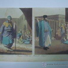 Libros antiguos: EXCELENTE GRAVADO DE VIAJE DE EPOCA ROMANTICA, ILUMINADO A MANO. APROX. 1820.. Lote 37844684