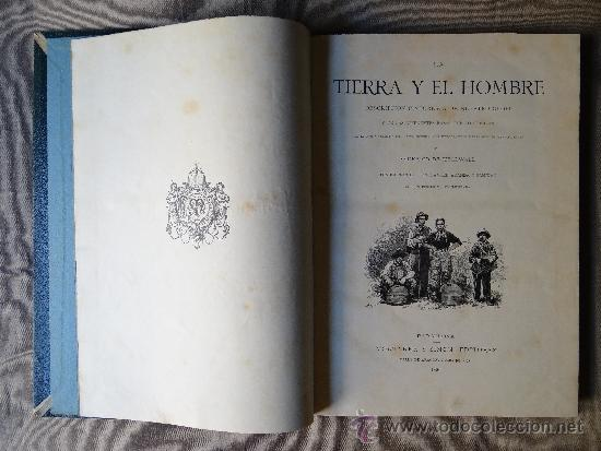 LA TIERRA Y EL HOMBRE, DOS TOMOS, FEDERICO DE HELLWALD, BARCELONA 1 8886. (Libros Antiguos, Raros y Curiosos - Geografía y Viajes)
