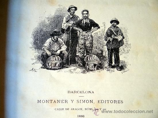 Libros antiguos: la tierra y el hombre, dos tomos, Federico de Hellwald, Barcelona 1 8886. - Foto 2 - 38582038