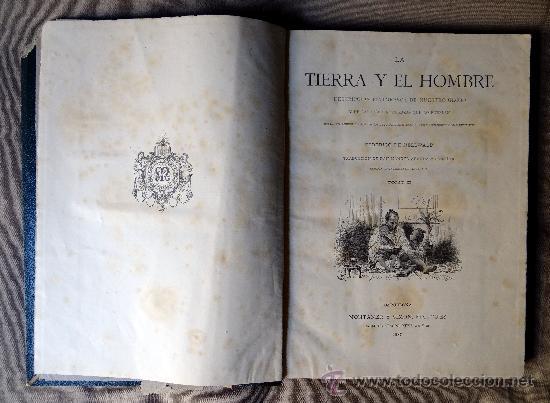 Libros antiguos: la tierra y el hombre, dos tomos, Federico de Hellwald, Barcelona 1 8886. - Foto 3 - 38582038