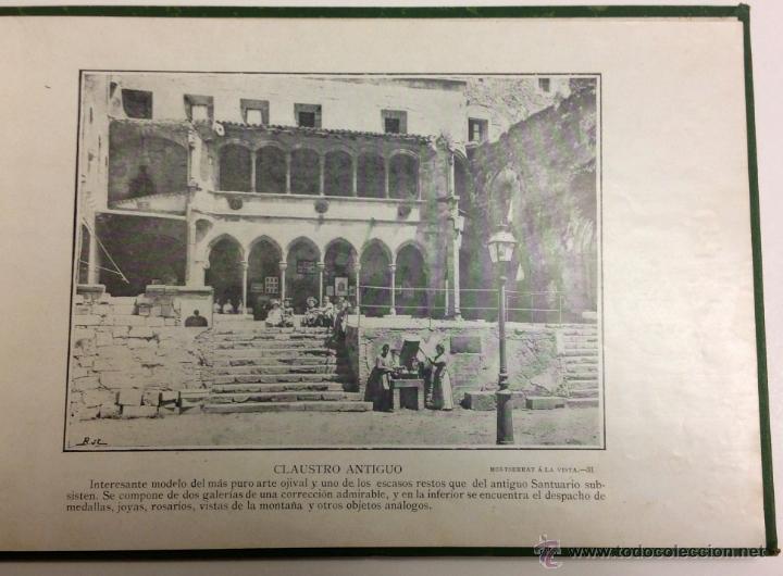 Libros antiguos: MONTSERRAT Á LA VISTA. ALBUM DE FOTOGRAFÍAS DE LA HISTORICA MONTAÑA. - Foto 5 - 39429094