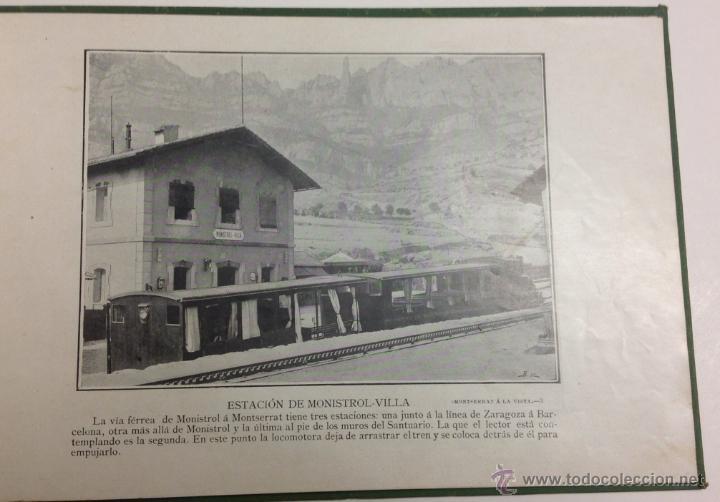 Libros antiguos: MONTSERRAT Á LA VISTA. ALBUM DE FOTOGRAFÍAS DE LA HISTORICA MONTAÑA. - Foto 4 - 39429094