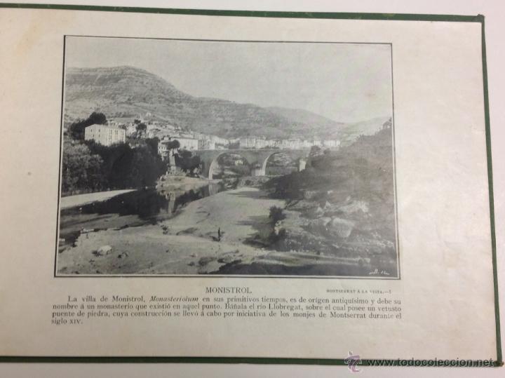 Libros antiguos: MONTSERRAT Á LA VISTA. ALBUM DE FOTOGRAFÍAS DE LA HISTORICA MONTAÑA. - Foto 3 - 39429094