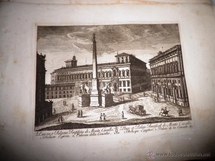 Libros antiguos: EXCEPCIONAL COLECCION DE 23 ANTIGUAS LAMINAS DEL SIGLO XVIII SOBRE ITALIA. - Foto 5 - 39499260